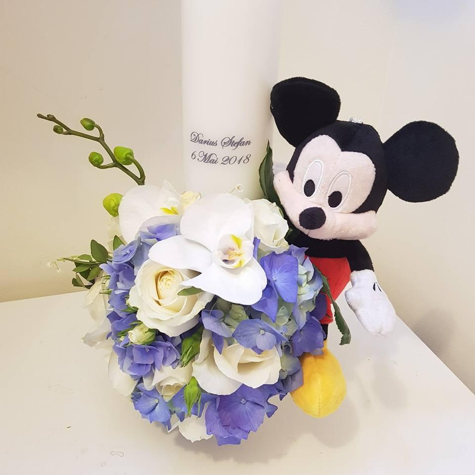 Lumanare Botez Cu Micky Mouse Si Minnie Mouselumanare Botez Cu